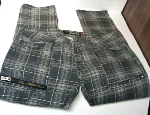 Vintage Lip Service Gray Plaid Punk Goth Pants Zip