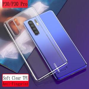 Para Huawei P30 Pro P30 Lite a prueba de choques delgada Transparente Blando TPU Silicona Funda Cubierta
