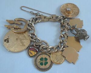 MONET-Gold-Tone-Charm-Bracelet-Ten-Charms
