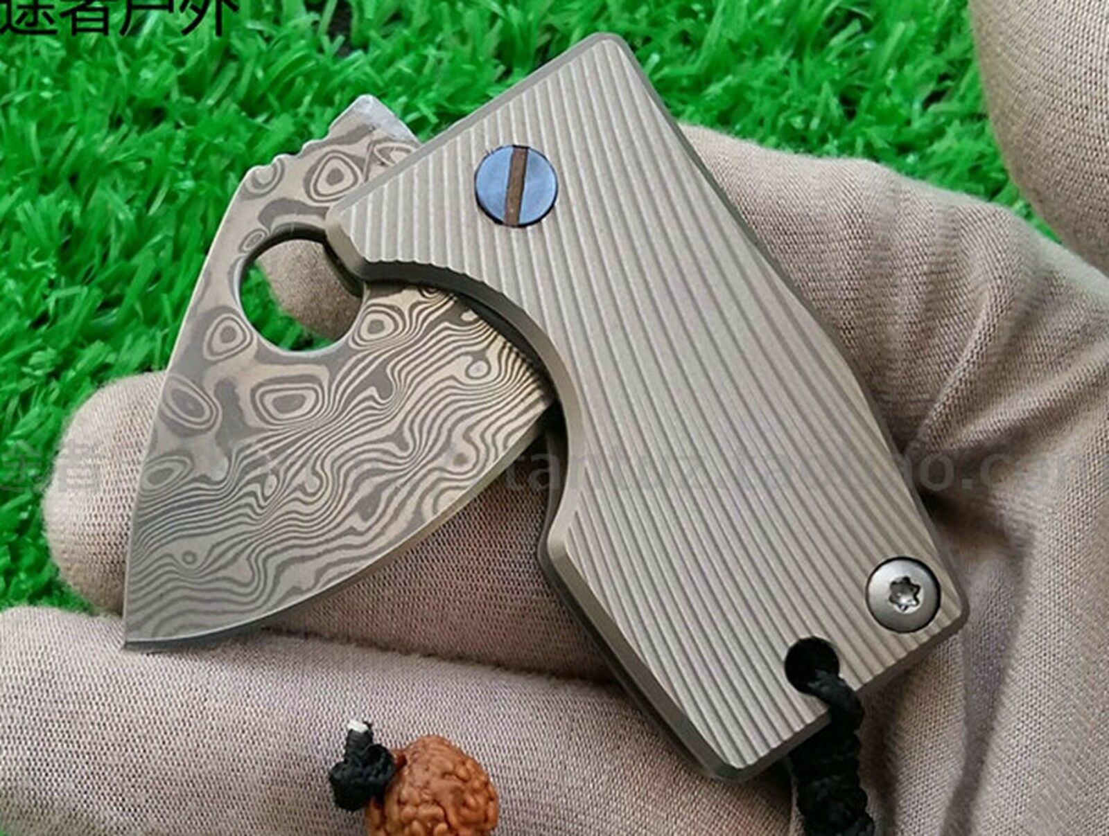 Titanium EDC MULTI TOOL  SECURITY SURVIVAL COIN KNIFE OUTDOOR Damascus BUSHCRAFT  outlet store