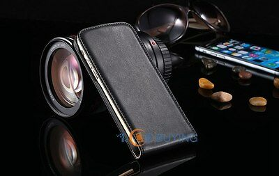 Vintage Genuine Real Leather Case New Flip Pouch Magnetic Cover For Apple iPhone