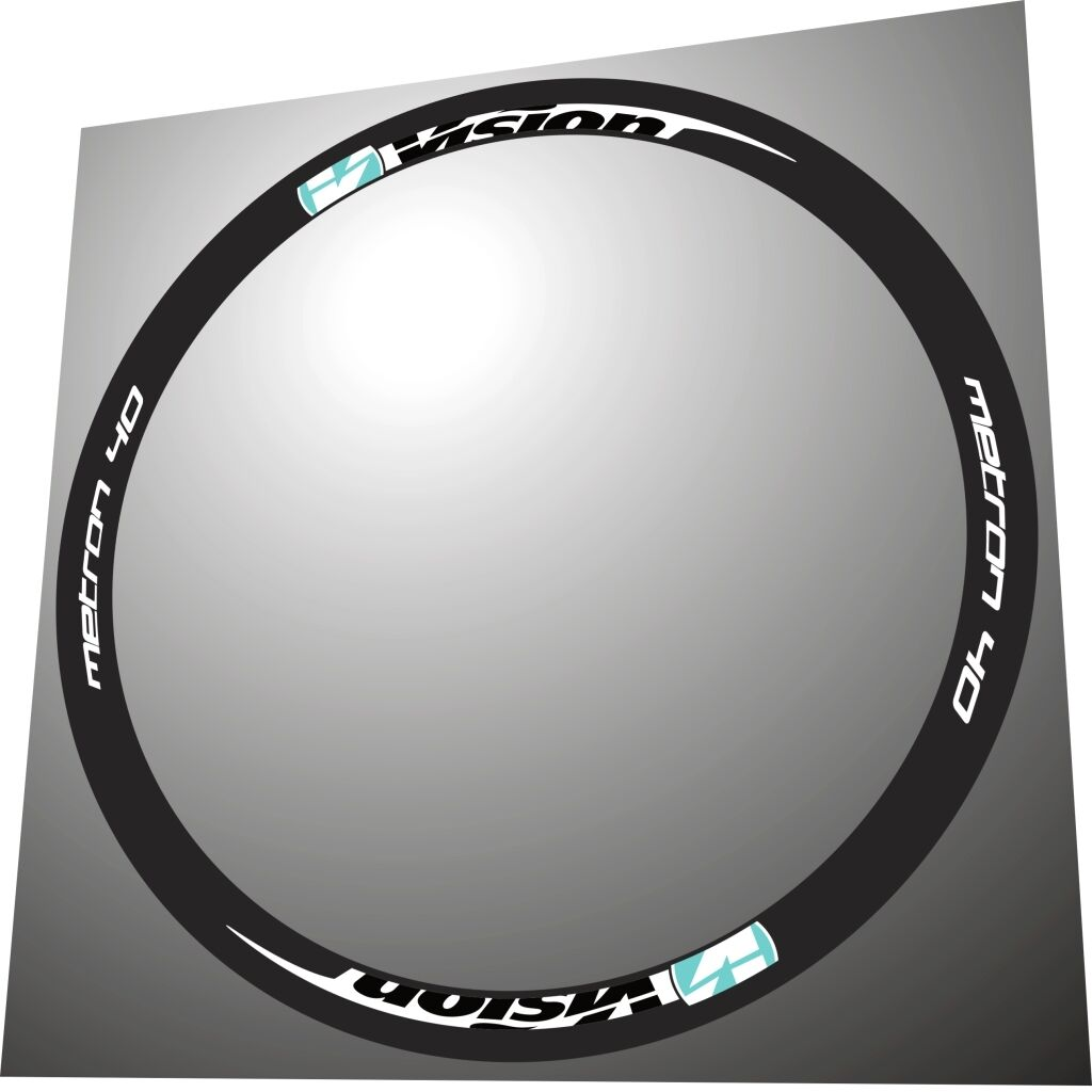 VISION METRON 40 CELESTE COLOR  REPLACEMENT RIM DECAL SET FOR 2 RIMS  comfortably