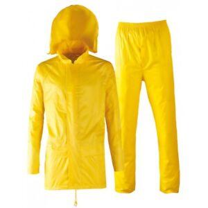 regarder a6079 d49c8 Détails sur Ensemble habit de pluie Veste et pantalon imperméable très  souple et légèr. 2XL