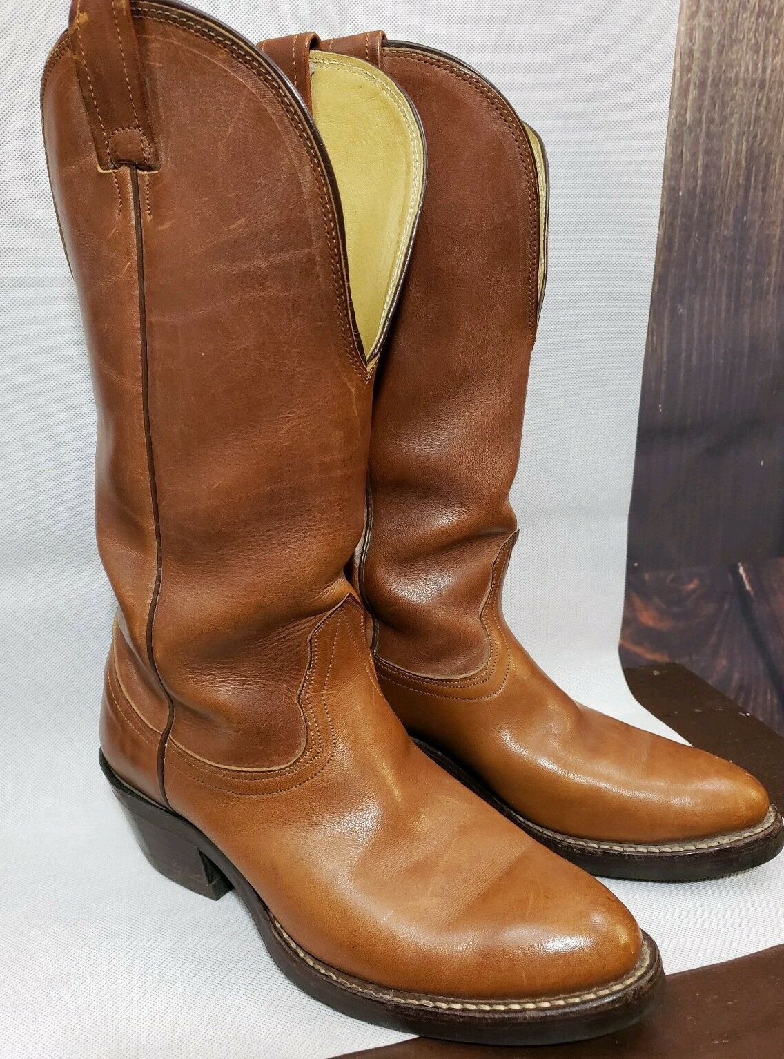 Nocona 3417C Men's Sz 6 D Brown Tall Western Cowboy Boots A-2