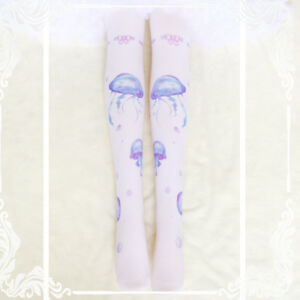8e19330b5 Image is loading Sweet-Lolita-Japanese-Harajuku-Scaleph-Print-Kawaii- Stockings-