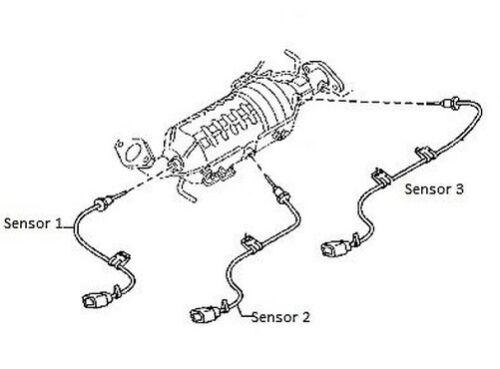 DPF Cat Temperatur Sensor Denso Mazda 3 5 /& 6 Diesel-05-10 Nr.1
