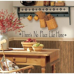 NO-PLACE-LIKE-HOME-WaLL-Stickers-Vinyl-Decal-Quote-Room-Decor-Decals-Decorations