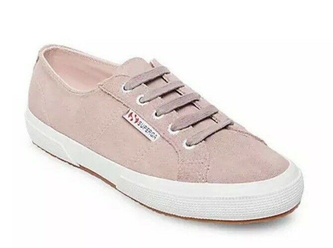 SUPERGA 2750 Suede COTU Classic Womens US 7.5 pink Pink Canvas Sneaker Trainers