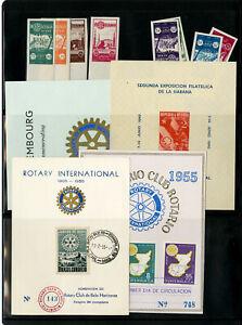 Monde-Timbre-Selection-1950-S-rotatif-Premier-Jour-Programme-Cartes