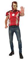 Iron Man Mark Shirt Mask Adult Men Costume Superhero Rubies Halloween Adult Med