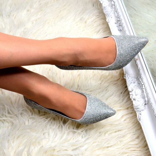 Womens Closed Pointed Toe Evening Shoes High Heel Stilettos Court Pumps Size 3-8