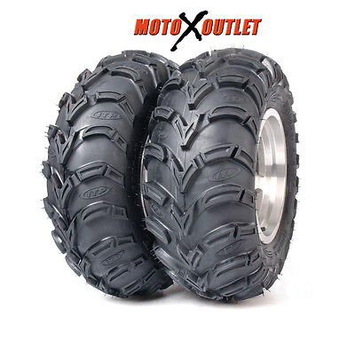 56A321 - Qty 2 ITP Mud Lite AT 25x10-12 Front // Rear ATV Tires