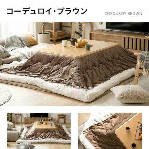 Kotatsu table 120x80cm& 260cmx205cm washable fluffy futon set waterproof japan