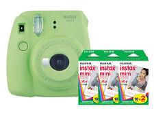 Fuji Instax Mini 9 (Lime Green) Camera with 3 Mini Film Twin Packs Bundle K