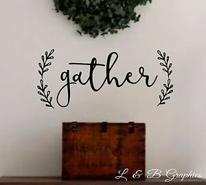 Image Is Loading Gather With Laurel Vinyl Wall Decal Dining Room