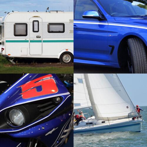 Motoking Adhesive 12,5 mm Bleu Mat RAL 5015 auto bateau moto camping-car