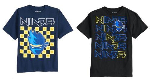 Med 10-12 NWT Boys Ninja Short Sleeve Tee Top T-Shirt Black or Navy Small 8