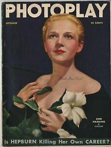 PHOTOPLAY-MAGAZINE-SEPT-1935-ANN-HARDING-cover-by-TCHETCHET-Vintage