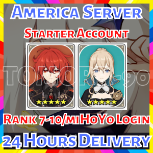 - Instant Delivery Genshin Impact Starter Account NA Jean Starter Account