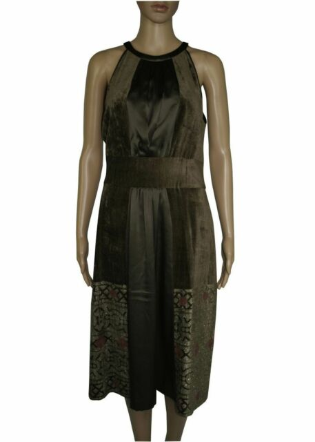Etro Lady Suit Silk Green Dress Discounted By 75 Ebay