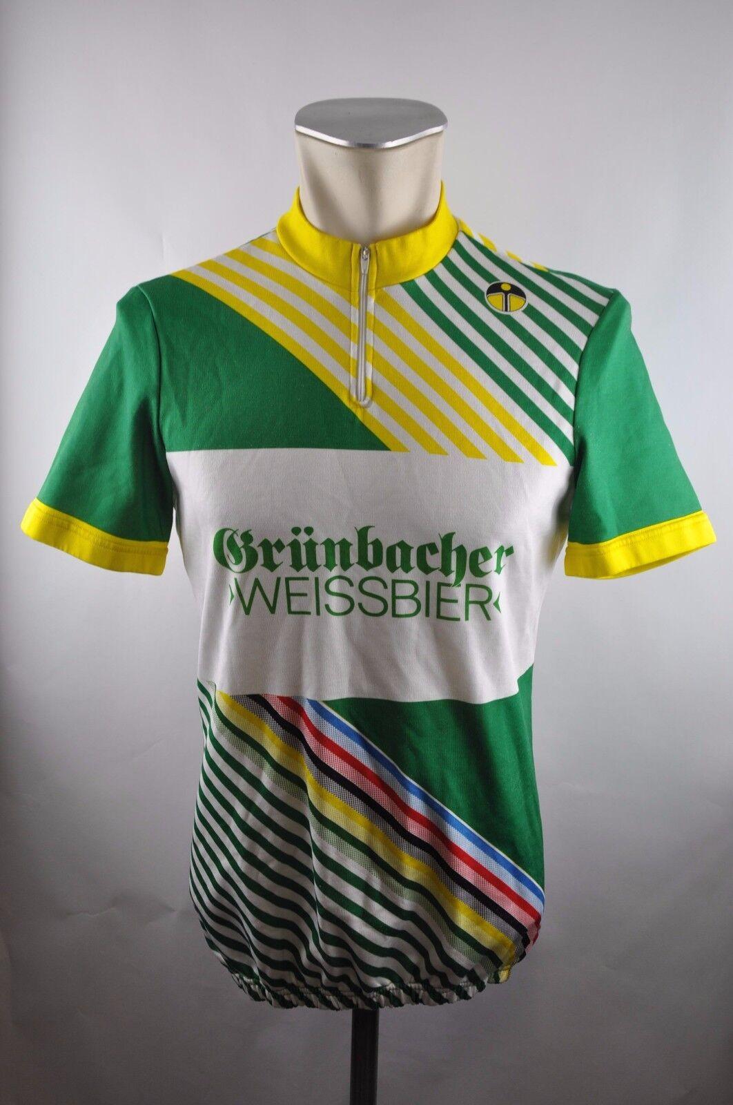 Grünbacher WEISSBIER giessegi vintage cycling jersey Bike Rad Trikot Gr. 5 51 U5 | Stabile Qualität
