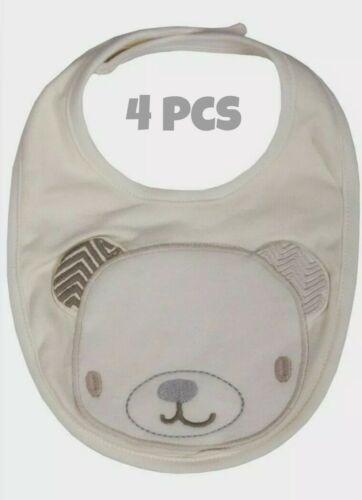 4Pcs Infant Kids Bébé Bavoirs Garçon Fille salive serviette Triangle Bandana Vendeur Britannique