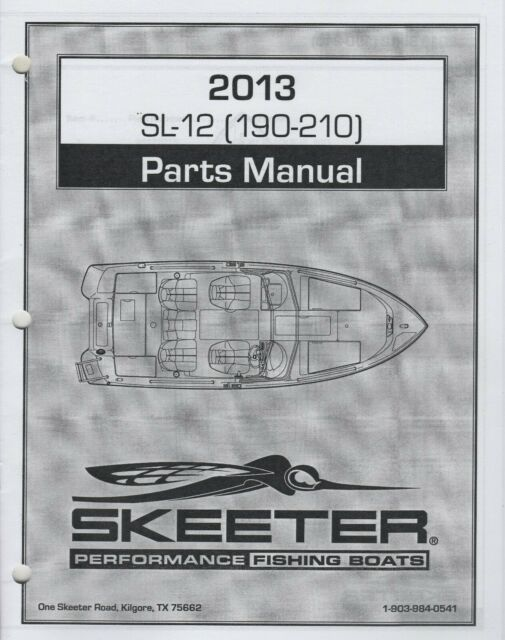 1995 Skeeter Fishing Boats Manual Guide