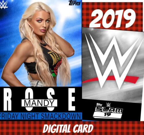 Topps Slam 20 WWE Mandy Rose 1985-2019 Smackdown Base 2019 Digital Card