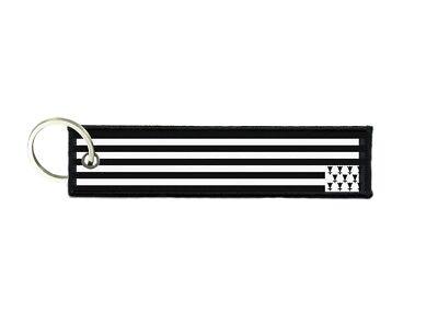 Port cles clef cle homme femme tissu brode imprime drapeau bretagne breton