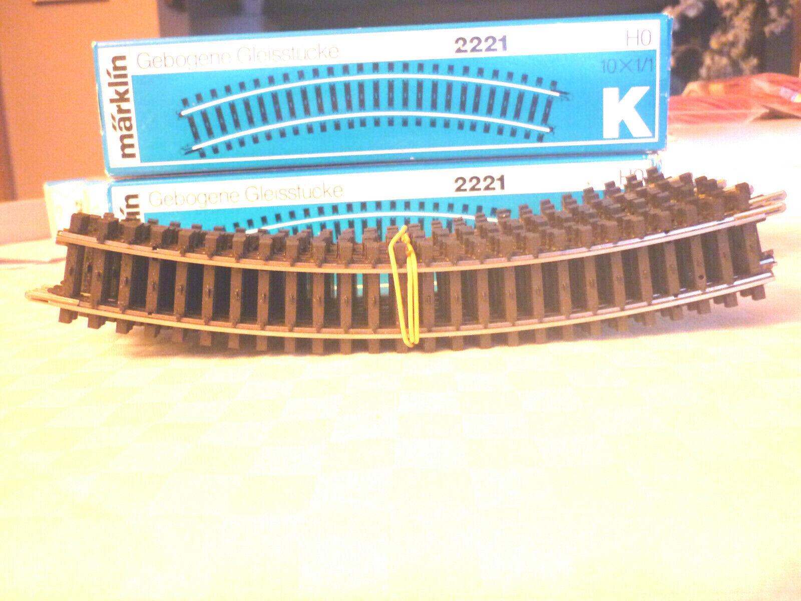 Märklin H0 2268 K-Gleis Bogenweiche links elektrisch NEU