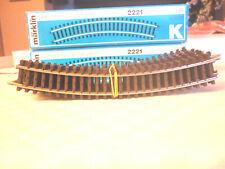 MÄRKLIN Spur H0 2121 K gebogene Gleise OVP 10 Stück 360mm 30° Hohlprofil