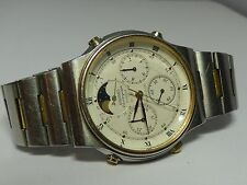 Seiko Sport 100 Chronograph Watch Moonphase Quarz 7A48 7009