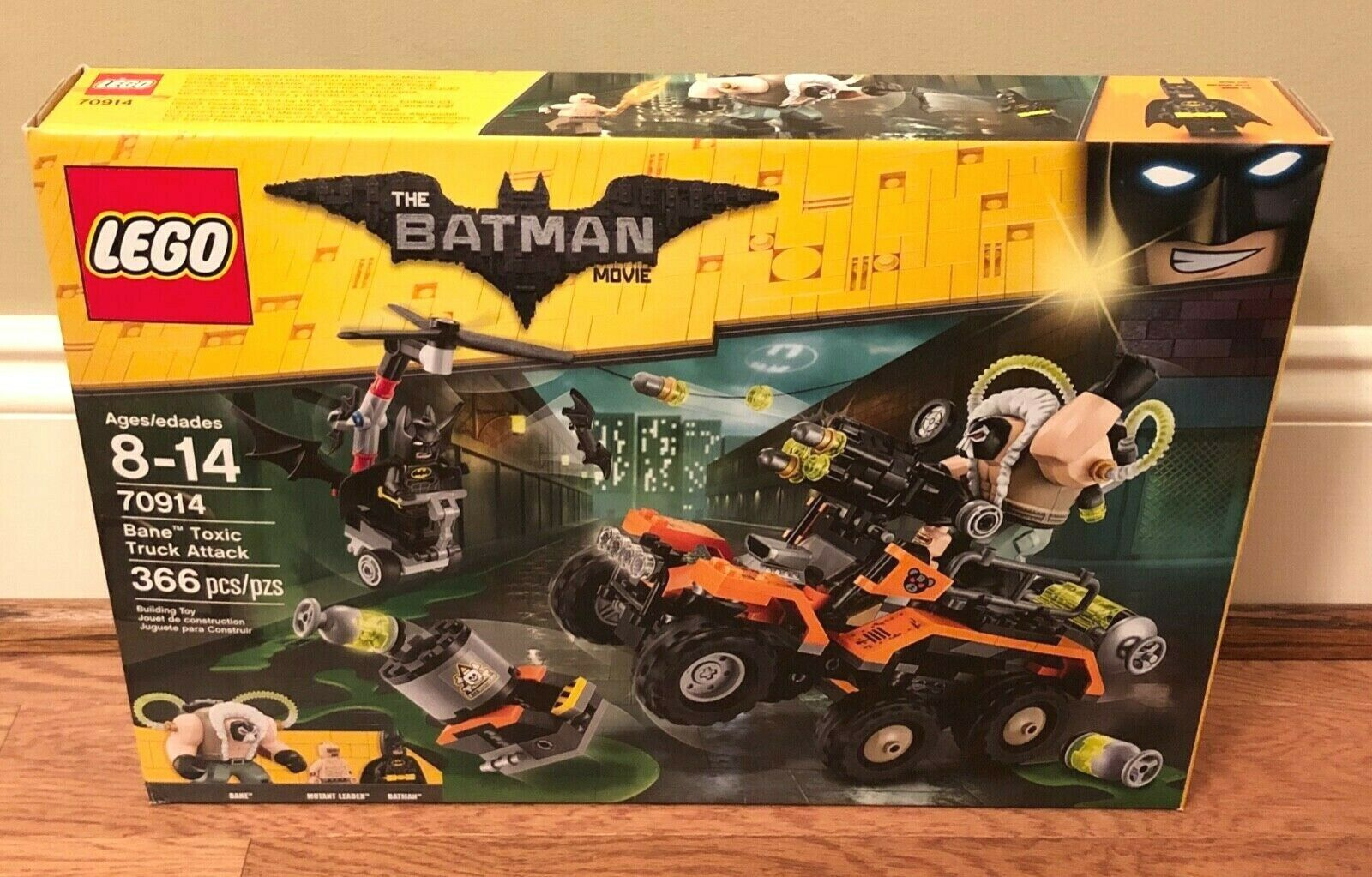 Lego The Batman Movie 70914 Bane Toxic Truck Attack 366pcs New Sealed 2017 TLBM