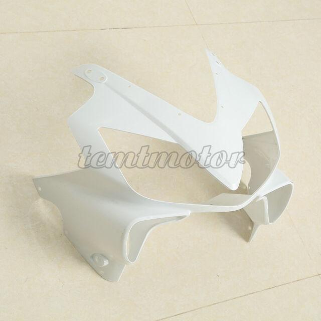 Unpainted White Front Upper Nose Cowl Fairings For Honda CBR600 F4i 2001-2008 07