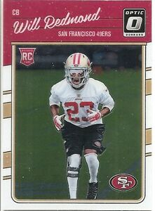2016-Donruss-Optic-Will-Redmond-Rookie-147-Football-Card-49ers-RC
