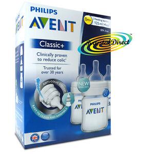 Philips-AVENT-SCF560-37-Classic-Feeding-Bottles-3-Pack-Anti-Colic-BPA-Free-0m