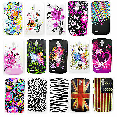 Fashion Flower Hard Plastic Back Phone Skin Cover Case For Huawei Ascend G610