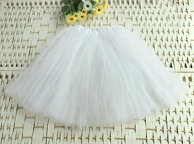 Women Elastic Stretchy Tulle Dress Teen 3 Layer Adult Tutu Girls Dance Skirt E