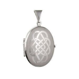 Sterling Silver Oval Celtic Locket Pendant