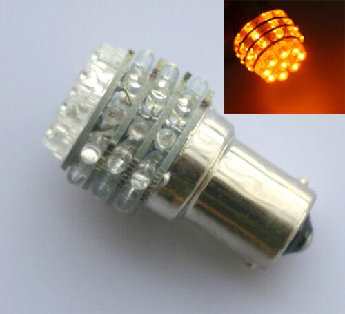 4X Car BA15S 36 LED 1156 Amber Yellow indicator bulb UK light BA15S P21W 12V