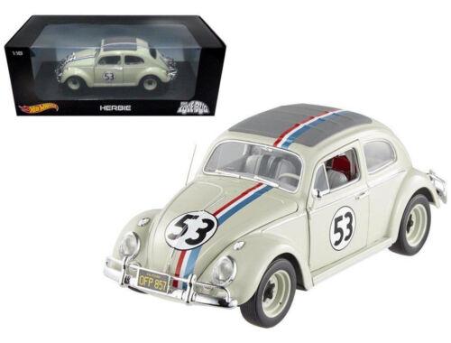 1/18 Hot wheels MATTEL Disney The Love Bug Herbie #53 Volkswagen Beetle BLY59