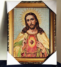 "Catholic Christian jesus Christ Religious Wall Textile Cloth Statue Figure 11"""