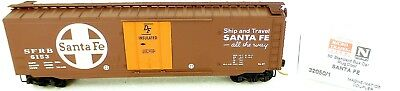 Freight Cars 50´ Estándar Boxcar Santa Fe Sfrb 6153 Micro Trains Linea 32050/1 N 1:160 C Å Crease-Resistance
