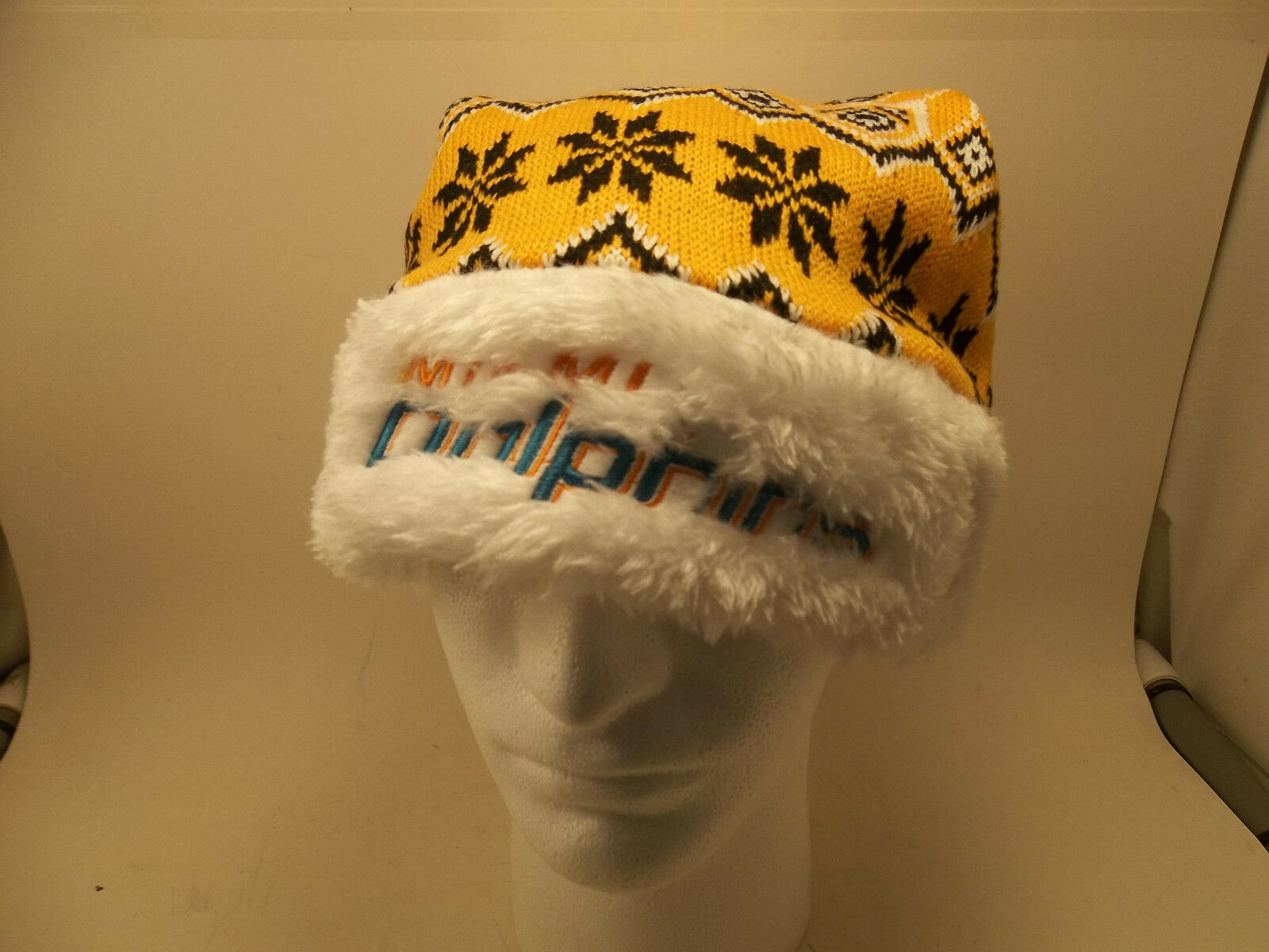 b406480927462c Miami Dolphins NFL Forever Collectibles Knit Santa Hat for sale ...
