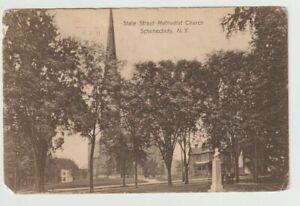 1909-Postmarked-Postcard-State-Street-Methodist-Church-Schenectady-New-York-NY