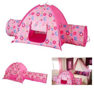 Image is loading Alvantor-Kids-Play-Tent-Floral-Bird-Garden-Tunnel-  sc 1 st  eBay & Alvantor Kids Play Tent Floral Bird Garden Tunnel Playhouse ...