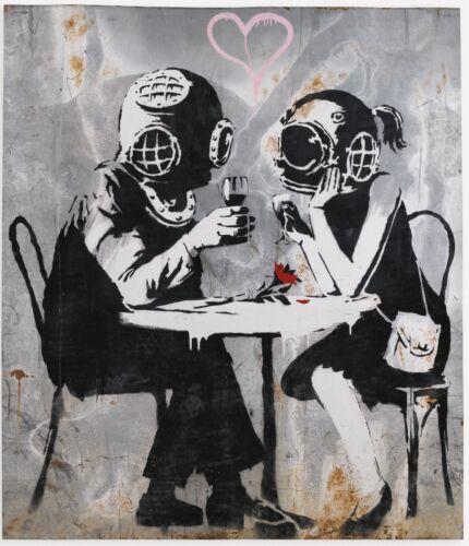 A1 SIZE BANKSY STREET ART POSTER  PRINT Think Tank  stencil graffiti painting