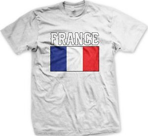 France-French-Flag-Logo-Nationality-Ethnic-Pride-Men-039-s-T-shirt