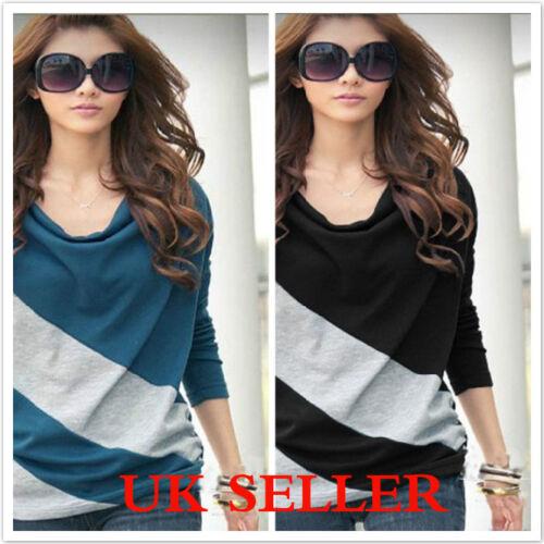T-Shirt 3 Colours  Size M L XL XXL XXXL 8-18 Womens Batwing Long sleeved Top