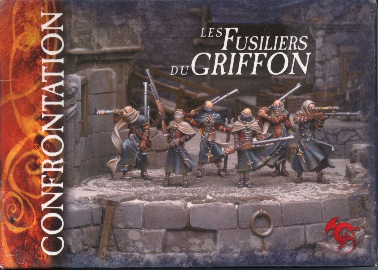 Konfrontation mot grips av Akkylannie Griffon Fusiliers lådaning Set Mint Metal